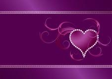 Het patroon van de valentijnskaart royalty-vrije illustratie