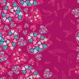 Het patroon van de valentijnskaart met liefdeharten. Stock Foto