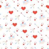 Het patroon van de valentijnskaartendag met vogels vector illustratie