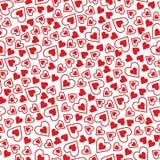 Het patroon van de Valentine'sdag met harten Stock Foto