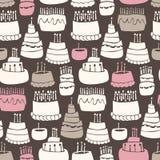 Het Patroon van de Verjaardag van Gooey Royalty-vrije Stock Afbeeldingen