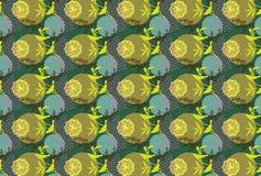 Het Patroon van de vogel + van de Bloem Royalty-vrije Stock Afbeeldingen