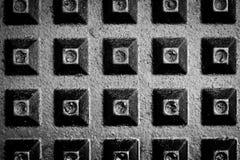 Het patroon van de wafel Stock Foto