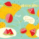 Het patroon van de watermeloen Royalty-vrije Stock Foto