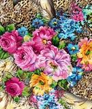 het patroon van de waterverf digitel bloem royalty-vrije stock afbeeldingen