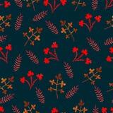 Het patroon van de waterverfbloem Royalty-vrije Stock Afbeelding