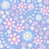 Het in patroon van de waterverfbloem Bloemen met kamilles Voor t stock illustratie