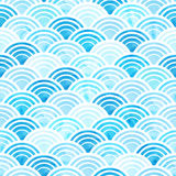 Het patroon van de waterverfcirkel Stock Afbeeldingen