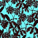 Het patroon van de waterverfpalm Royalty-vrije Stock Fotografie