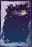 Het patroon van de winter bij een venster Stock Afbeelding