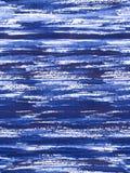 Het patroon van de Zencirkel - blauw die stroken kalmeren Stock Afbeelding