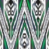 Het patroon van de zijde ikat stof royalty-vrije illustratie