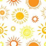 Het patroon van de zonschets Royalty-vrije Stock Afbeelding