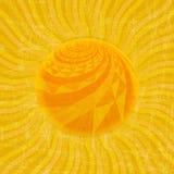 Het Patroon van de zonzonnestraal Vector illustratie Royalty-vrije Stock Fotografie