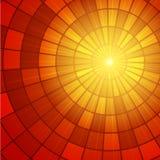 Het Patroon van de zonzonnestraal Vector illustratie Royalty-vrije Stock Foto's