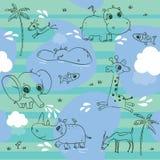 Het patroon van dieren Stock Afbeelding