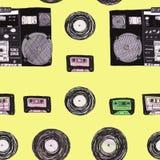 Het patroon van DJ DJ, groot ontwerp voor om het even welke doeleinden stock illustratie