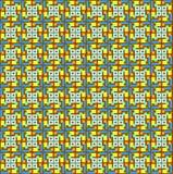 Het patroon van doosmotieven als dobbelt royalty-vrije illustratie