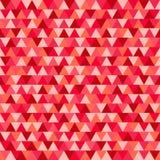 Het patroon van driehoekskerstmis, rode en roze geometrische achtergrond ve Royalty-vrije Stock Afbeelding