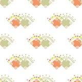 Het patroon van dubbele vormen stock illustratie