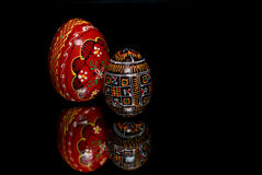 Het patroon van eieren Stock Foto