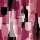 Het patroon van flessen vector illustratie