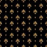 Het patroon van Fleurde lis, silhouet - heraldisch symbool Vector illustratie Middeleeuws teken Gloeiende Franse fleur DE lis kon Royalty-vrije Stock Fotografie