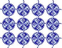 Het patroon van Fleurde lis talavera stock afbeelding