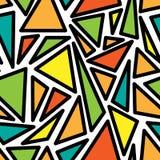 Het patroon van geometrische vormen Royalty-vrije Stock Afbeeldingen