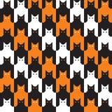 Het Patroon van Halloween van Catstooth Royalty-vrije Stock Fotografie