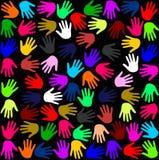 Het patroon van Handprint Royalty-vrije Stock Afbeelding
