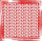 Het Patroon van het hart Abstracte kunstachtergrond royalty-vrije illustratie