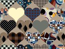 Het patroon van harten vector illustratie