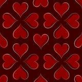 Het Patroon van harten Stock Afbeelding