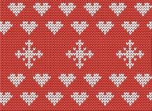 Het patroon van harten en van sneeuwvlokken Royalty-vrije Stock Foto