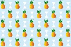 Het patroon van het ananasfruit stock illustratie