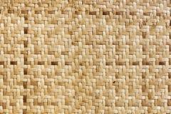 Het patroon van het bamboeweefsel Royalty-vrije Stock Fotografie