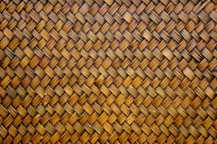 Het patroon van het bamboeweefsel Royalty-vrije Stock Foto