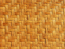 Het patroon van het bamboeweefsel Stock Fotografie