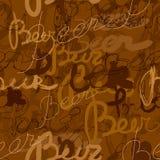 Het patroon van het bier stock illustratie