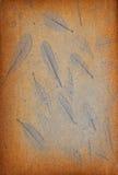 Het patroon van het blad op de kras uitstekende achtergrond Stock Afbeeldingen
