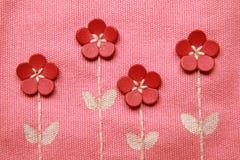 Het patroon van het borduurwerk op stof Royalty-vrije Stock Fotografie