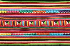 Het patroon van het borduurwerk op stof Royalty-vrije Stock Afbeeldingen