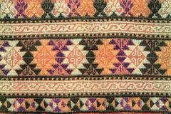 Het patroon van het borduurwerk op stof Royalty-vrije Stock Foto