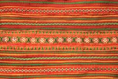 Het patroon van het borduurwerk op stof Stock Afbeelding