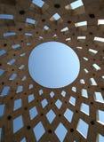 Het patroon van het dak onder hemel Royalty-vrije Stock Fotografie