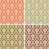 Het patroon van het damast Royalty-vrije Stock Afbeeldingen