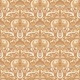Het Patroon van het damastbehang Stock Afbeelding