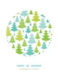 Het patroon van het de cirkeldecor van vakantiekerstbomen Royalty-vrije Stock Foto