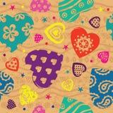 Het patroon van het de kleurenhart van uitstekende Vilentine Royalty-vrije Stock Fotografie